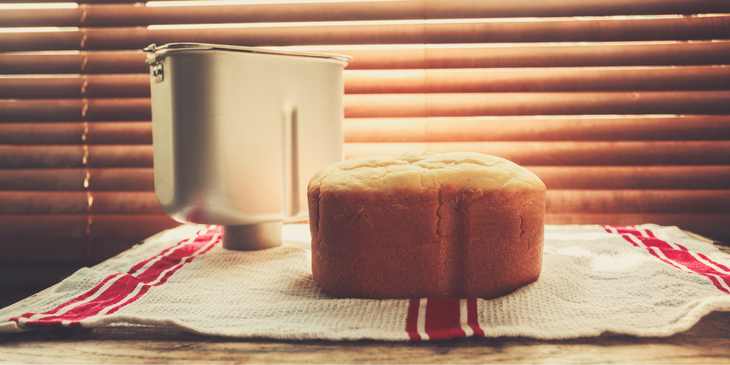 Best Home Bread Maker Pan with Loaf of Bread