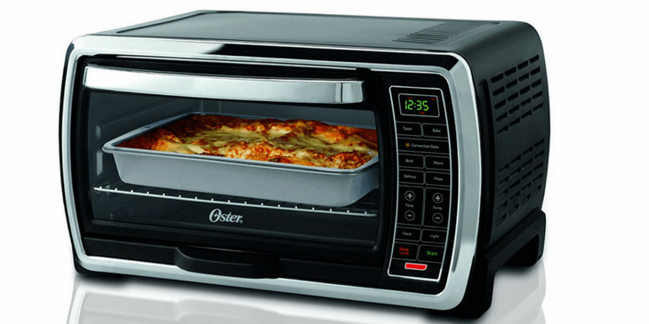 Oster 6 Slice, Black/Polished Stainless Steel Toaster Oven