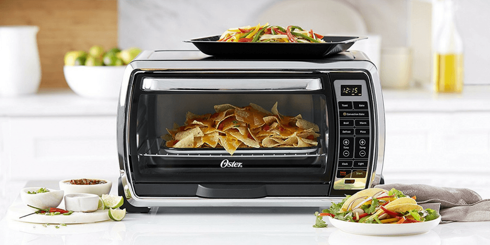 Oster Toaster Oven On Counter Making Nachos