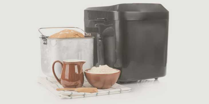 Bread maker, pan and ingredients