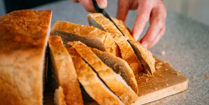Tips for slicing homemade bread